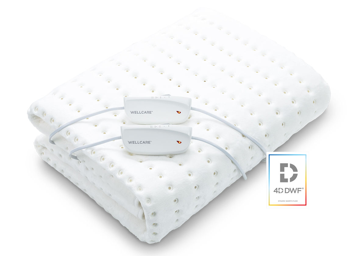 Wellcare 4D DWF Double size electric underblanket with 2 controllers